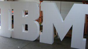 ibm eps foam large dimensional letters by wecutfoam