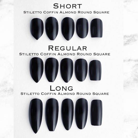 Color Of Med Long Nail Length Fake Nails Square Acrylic Nails