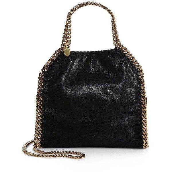 06d76fdd2224 Stella McCartney Falabella Mini Baby Bella Metallic Faux Suede... ( 870) ❤  liked on Polyvore featuring bags