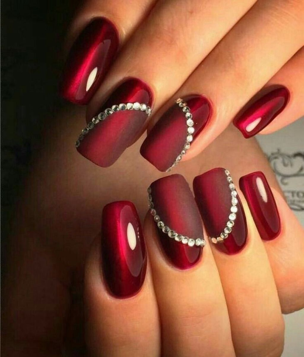 50 Cute Red Nails Art For Your Valentines Day Acrylic Nails