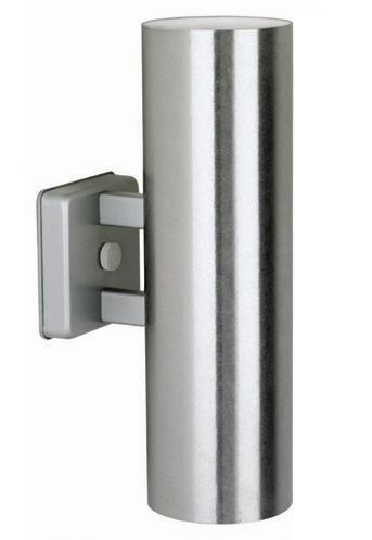 Mid Century Indoor/Outdoor Wall Sconce In Satin Aluminum Finish