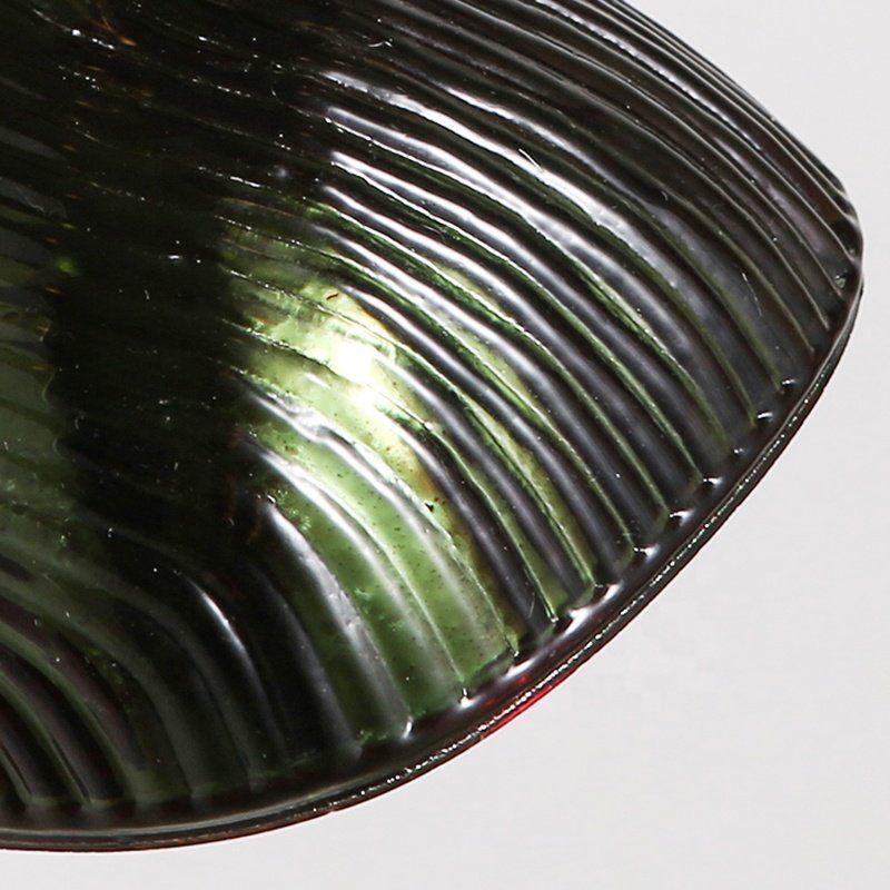 Photo of Amerikanische industrielle Retro Einzelkopf Tiefgrünes Glas hängende Pendelleuchte für Esszimmer