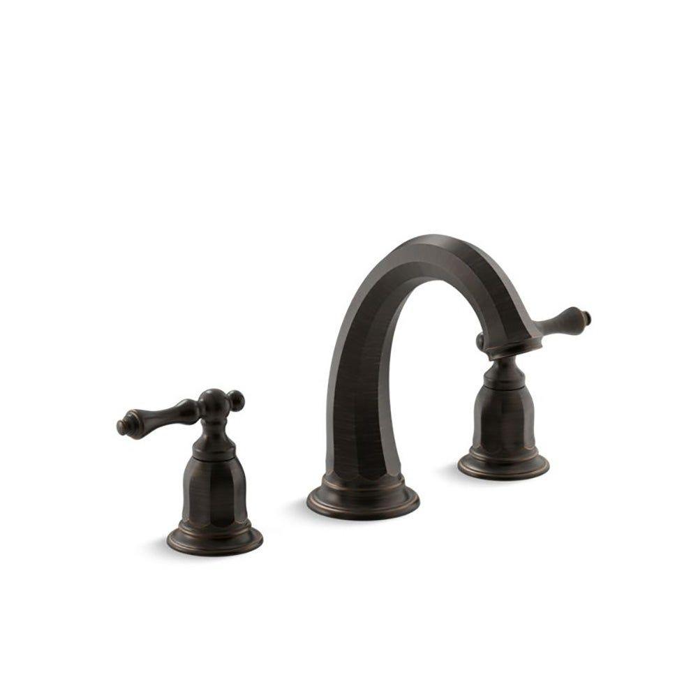 Photo of Kohler Kelston Deck-Mount Bath Faucet Trim Oil-Rubbed Bronze, Brown