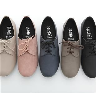 a755128cc BN Women's Lace Up Flat Oxford Flats Boots Shoes Blue Red Pink Yellow  Purple BLK