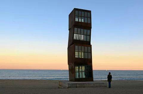 #Sunset at #Barceloneta #Barcelona