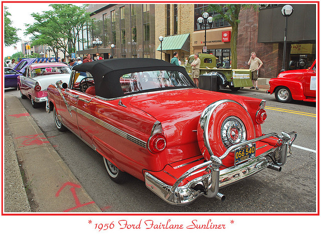 1956 Ford Sunliner With Continental Kit Ford Classic Cars Classic Cars Vintage Ford Trucks