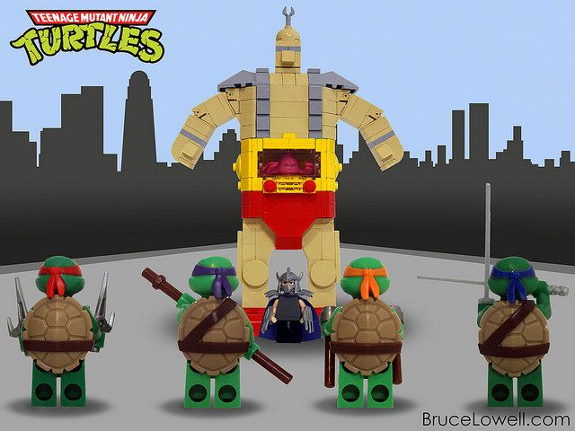 Ninja Turtle Krang Android Body Made Out Of LEGO | BABY BOY ...