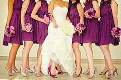 Purple bridesmaid dresses, Wedding