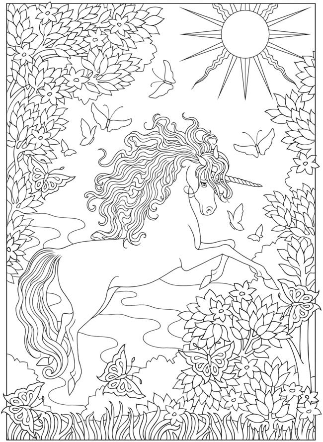 Welcome To Dover Publications From Creative Haven Unicorns Coloring Book