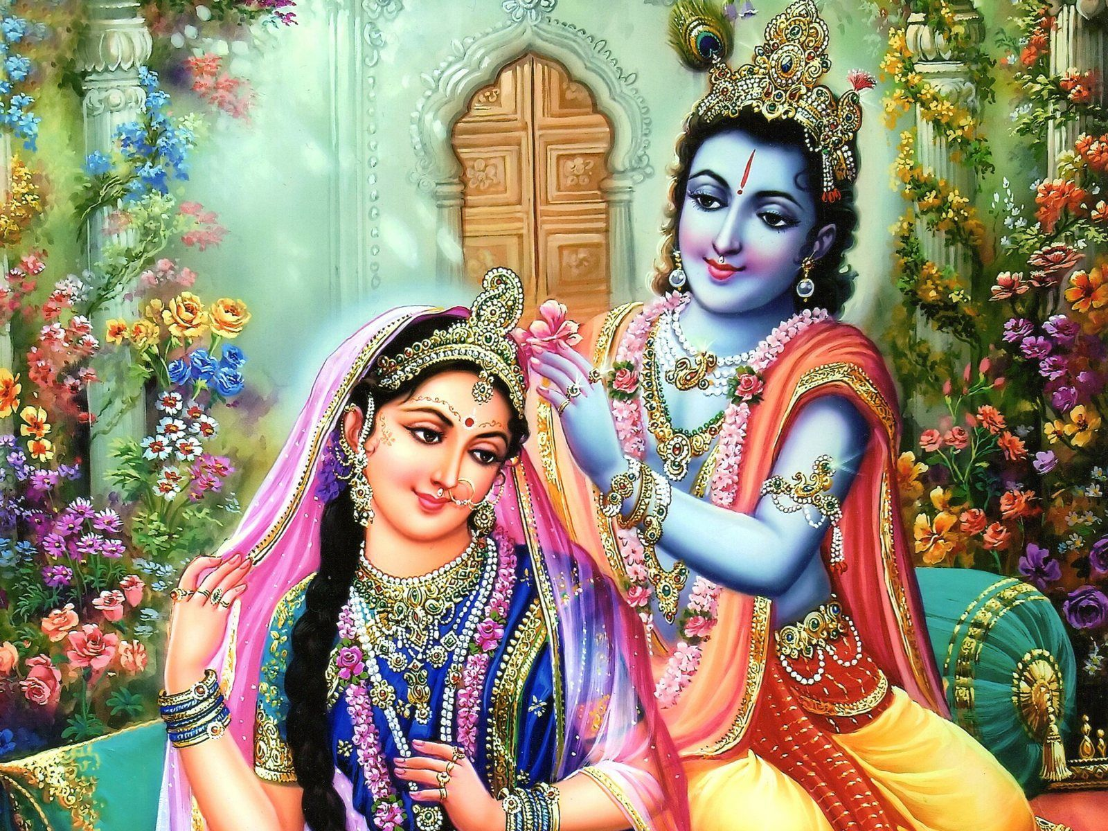 Hd wallpaper krishna and radha - Bhagwan Krishna With Radha Hd Wallpaper Pics Imgs Hd Full
