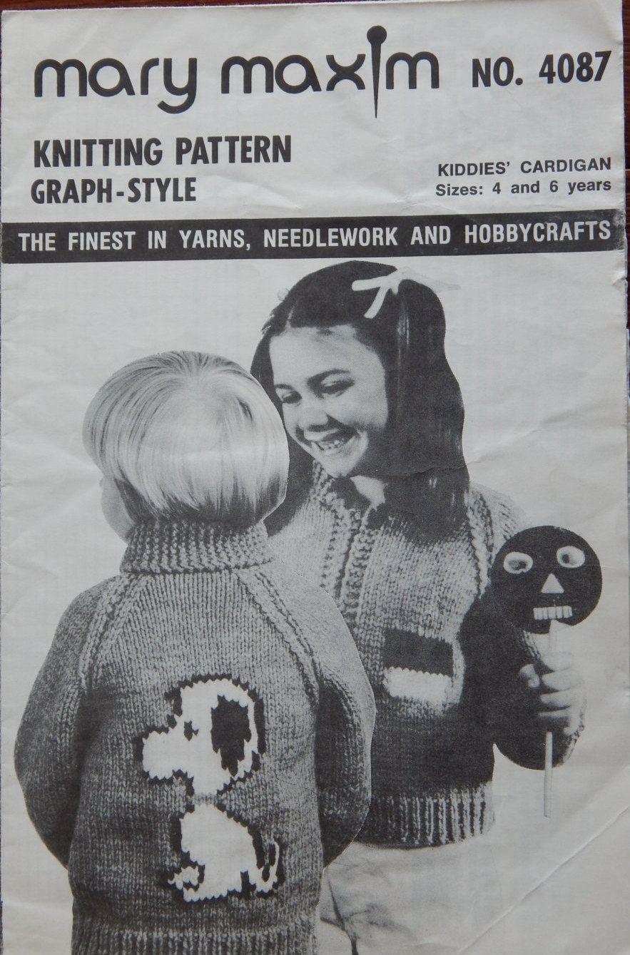 Mary Maxim Puppy Dog Sweater Knitting Pattern w/Dog House Zipper ...