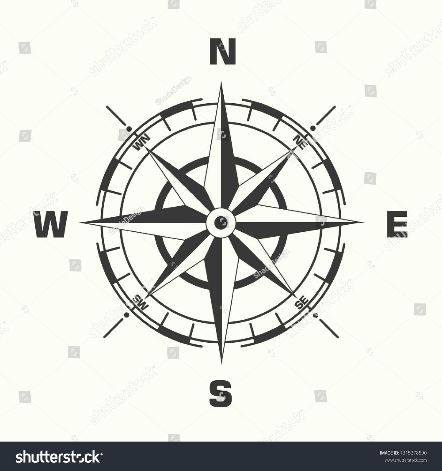 Vector Geography Science Compass Sign Icon Compass Wind Rose Illustration In Flat Minimalism Style Sponsored Spo In 2020 Rose Illustration Wind Rose Illustration