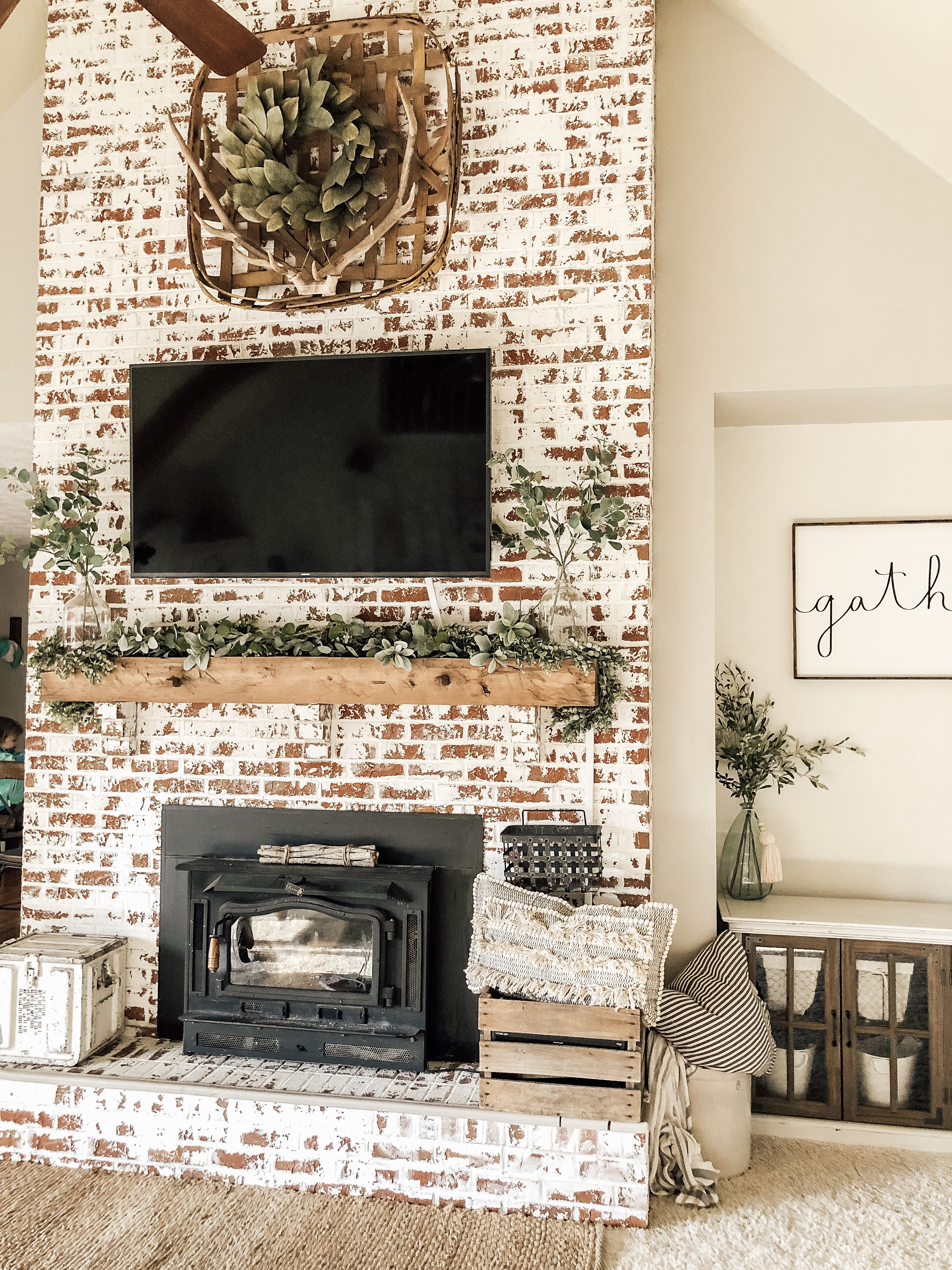 German Schmear Home Fireplace Farm House Living Room Home Remodeling