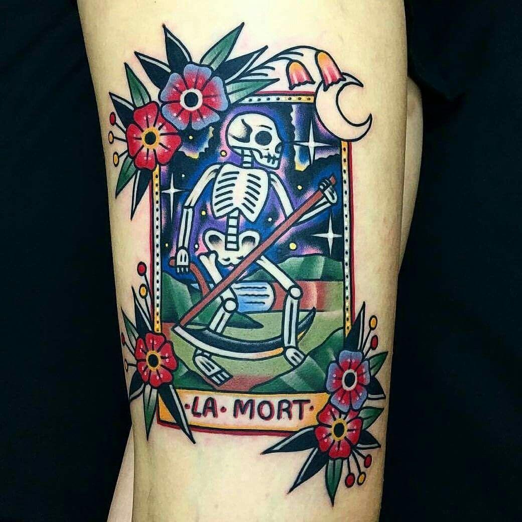 La Muerte Tarot Card Tattoo Tetovalas