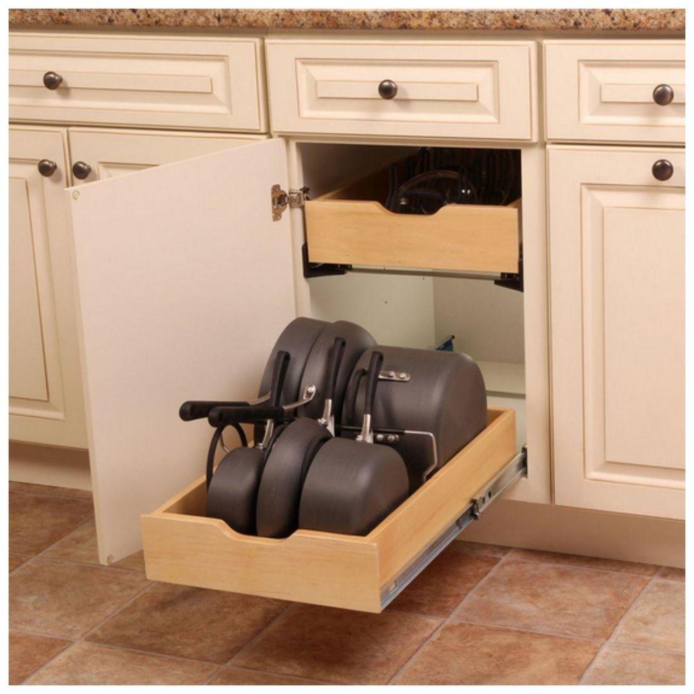 Pot Pan Cookware Kitchen Cabinet Drawer Organizer Storage Rack Holder Hardware Home Depot Kitchen Kitchen Cabinet Storage Kitchen Cabinet Drawers