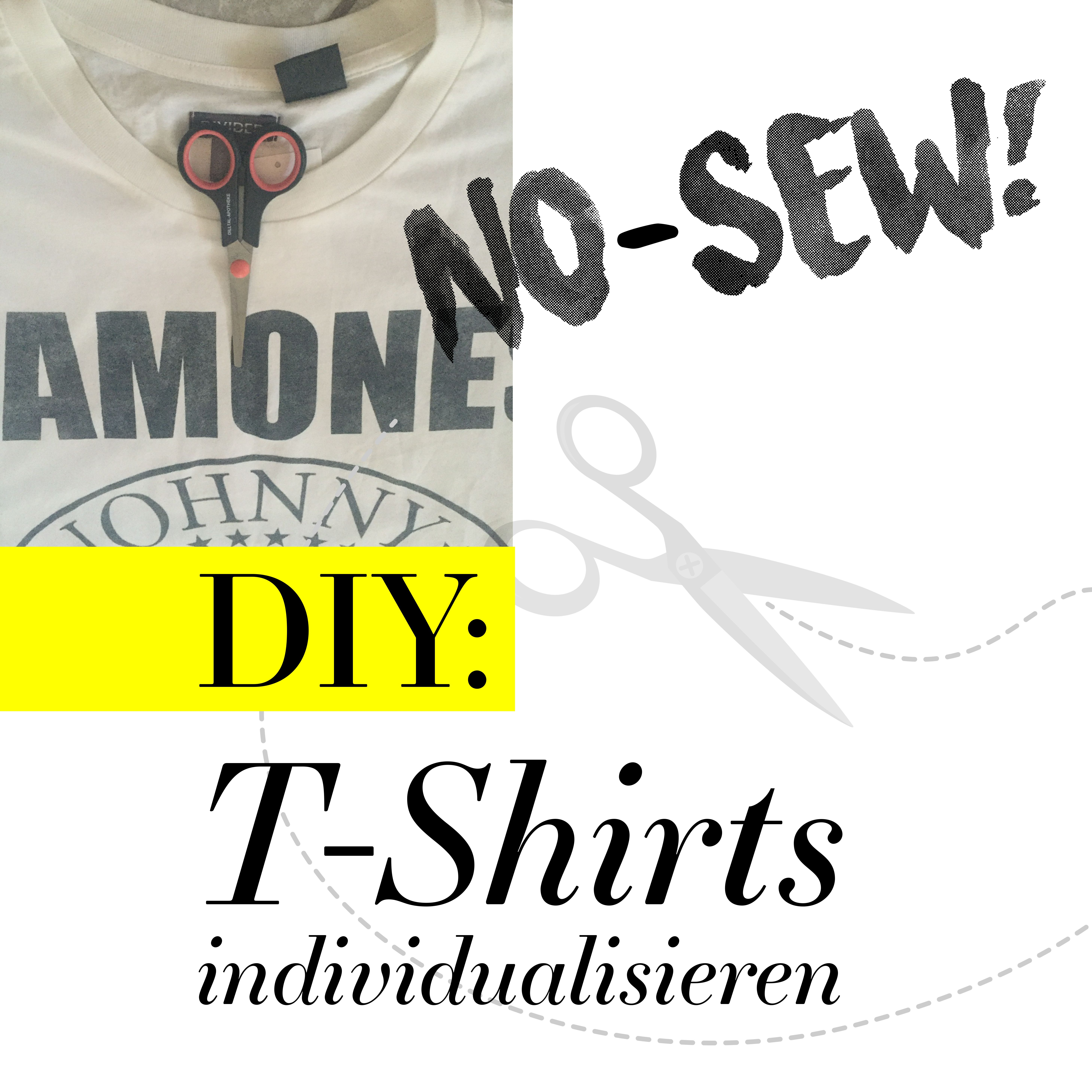 DIY: No-Sew T-Shirts Individualisieren Band Tshirts Do it Yourself Plussize Curvy