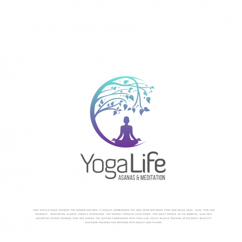 Yoga Logo In Logo Design By Abdussalammitul92 Yoga Logo Design Yoga Logo Inspiration Logo Yoga