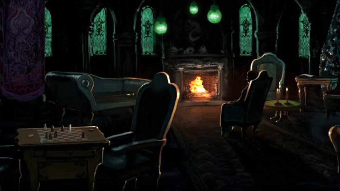 Pottermore Background Slytherin Common Room by xxtayce