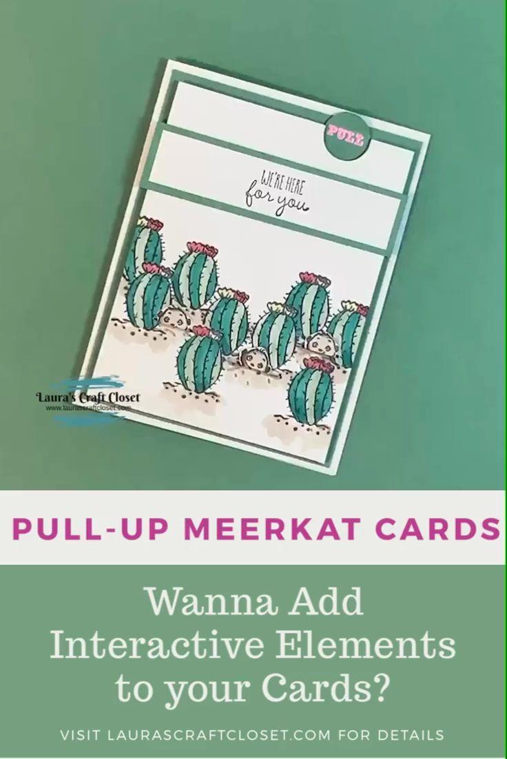 Meerkat Pull-Up Card • Interactive Cards • Laura's Craft Closet