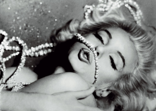 Marilyn Monroe with diamonds (of course)
