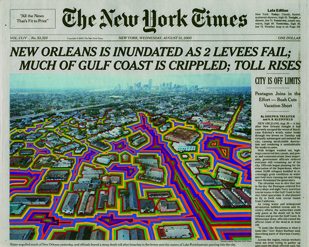 Art Created With 'New York Times' Cover Pages by Fred Tomaselli