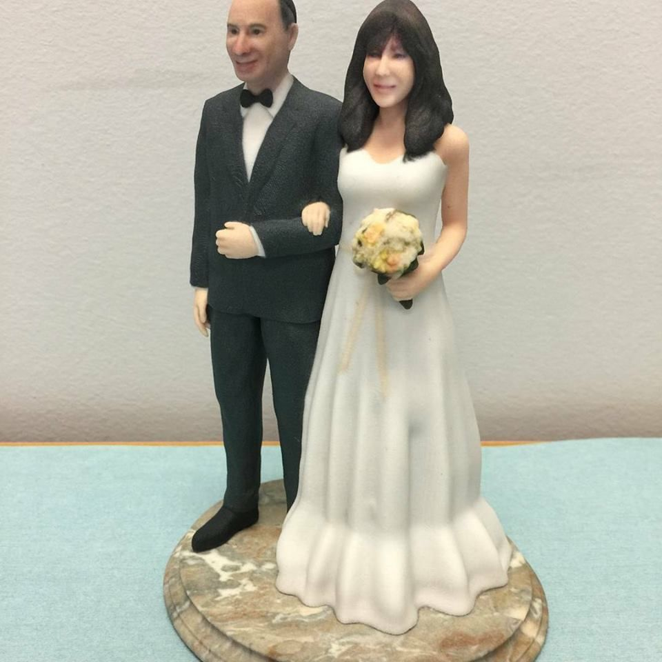 From 4 Photos To Custom Exact Printed Wedding Cake Topper Figurine Of You Or Your