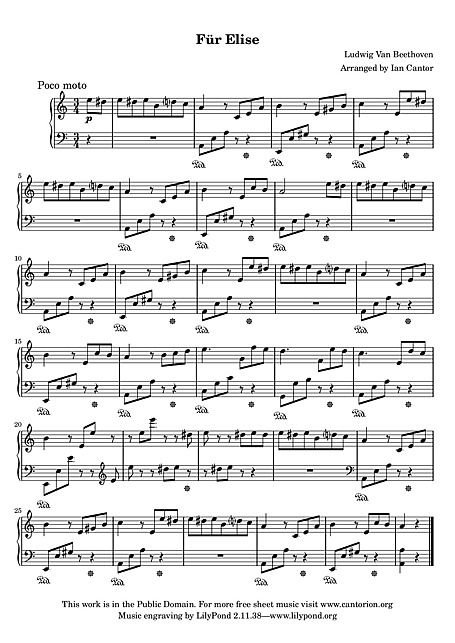 Lettre A Elise Partition Piano Facile Free Sheet Music