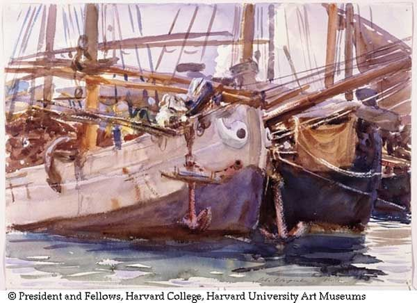 Boats, Venice (Fogg Museum) by John Singer Sargent