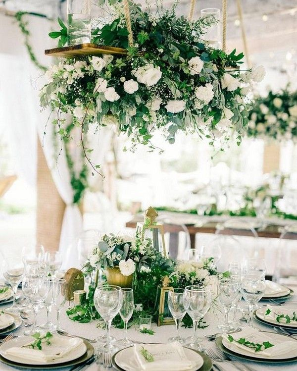 20 Amazing Hanging Greenery Floral Wedding Decorations For