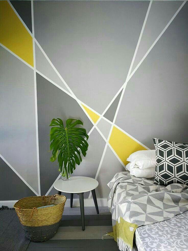 peinture géométrique in 2020 accent wall designs accent on accent wall ideas id=61324