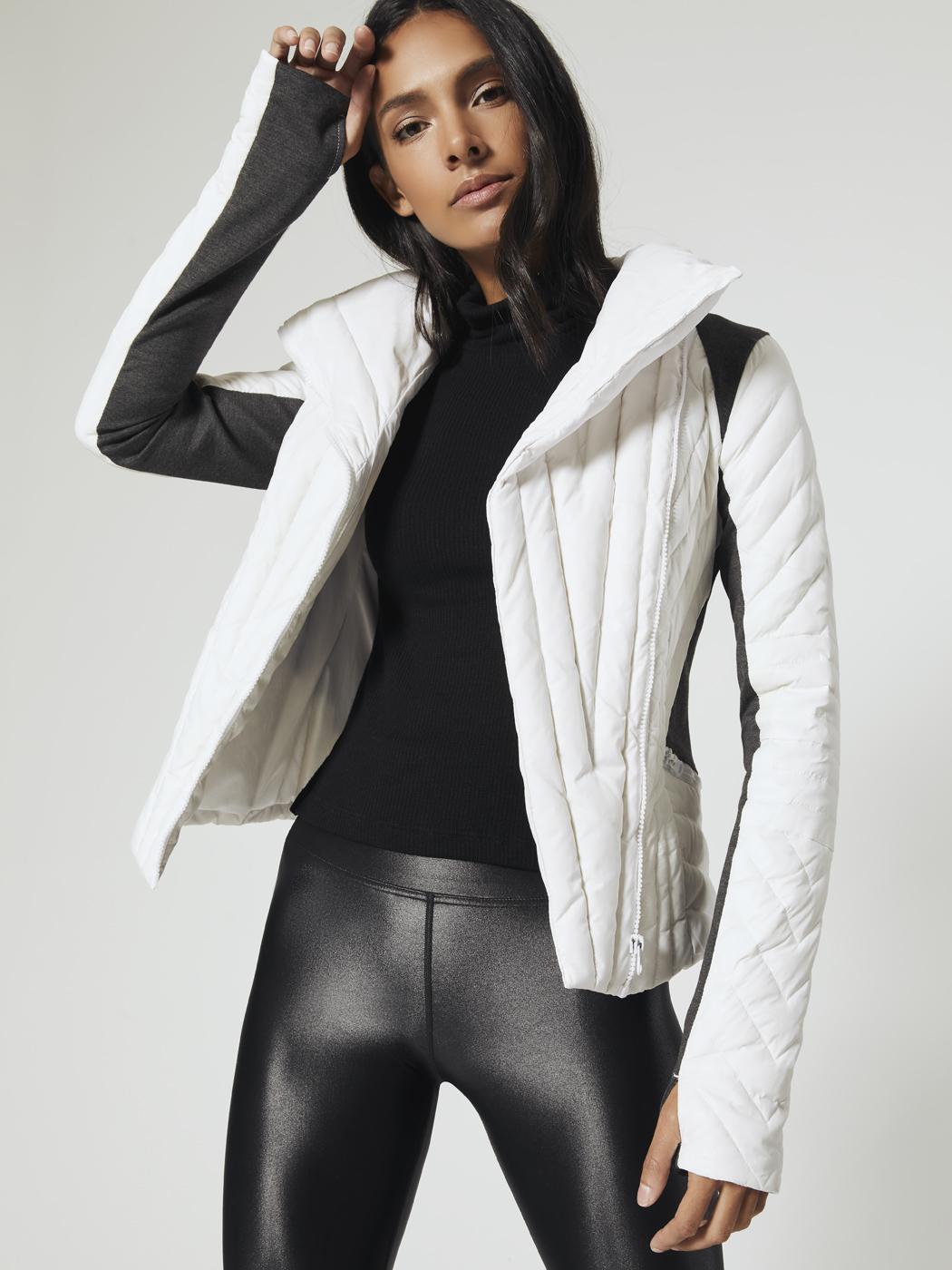 Motion Panel Puffer Jacket In White By Blanc Noir From Carbon38 Cutout Bra Lycra Leggings Best Leggings [ 1400 x 1050 Pixel ]