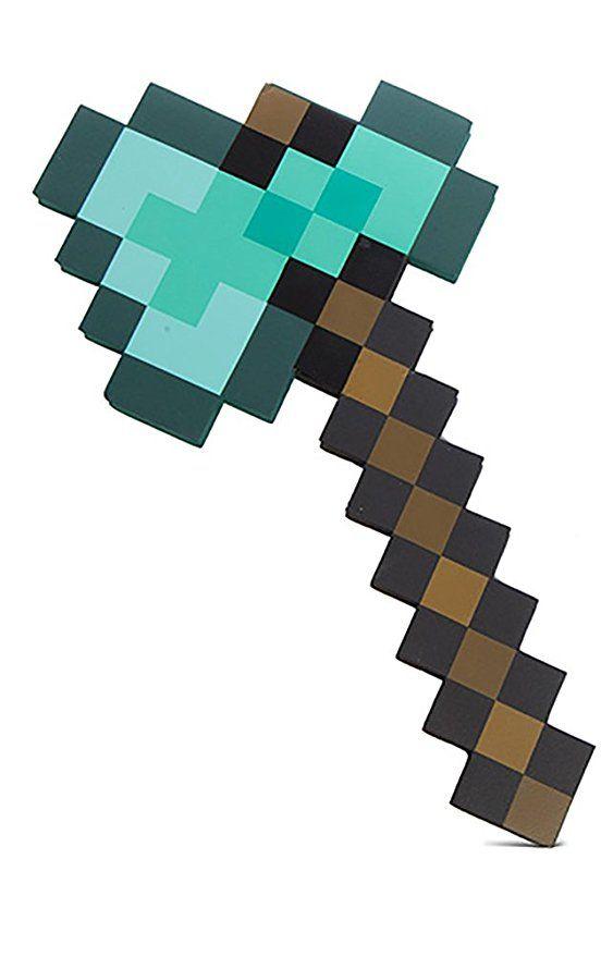 Thinkgeek Minecraft Diamond Axe Chop Your Way To Minecraft Success Minecraft Sword Minecraft Toys Minecraft Pixel Art