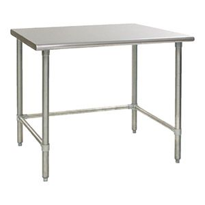 Work Table Stainless Steel With Removable Galvanized Tubular Base 24 D X 24 W Stainless Steel Work Tables Stainless Steel Work Table Work Table Eagle Group