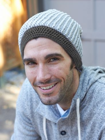Free Pattern - This relaxed beanie is perfect for stylish guys  crochet   beanie  hat 52691d39775