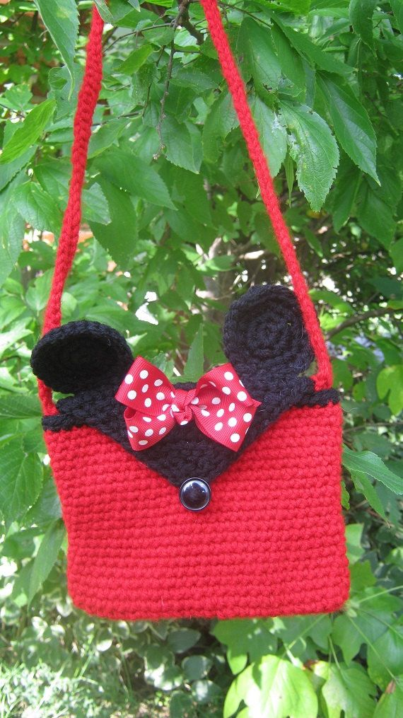 Minnie Mouse Inspired Little Girl\'s Purse by Tambowsdesigns, $6.00 ...
