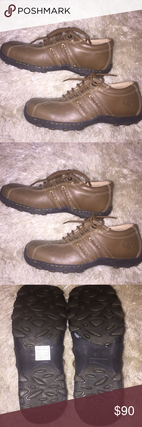 Brand New Dr. Martens Men's Shoes Brand New Doc Martens Men's Brown Colored Shoes. US Size 6 or UK Size 5 Men's. Never worn! Perfect condition! The only minor flaw is the Dr Marten label inside the shoe was a bit scratched off from the sizing sticker it came with but other than that it's in mint condition(shown in last photo).  👌🏼 Dr. Martens Shoes