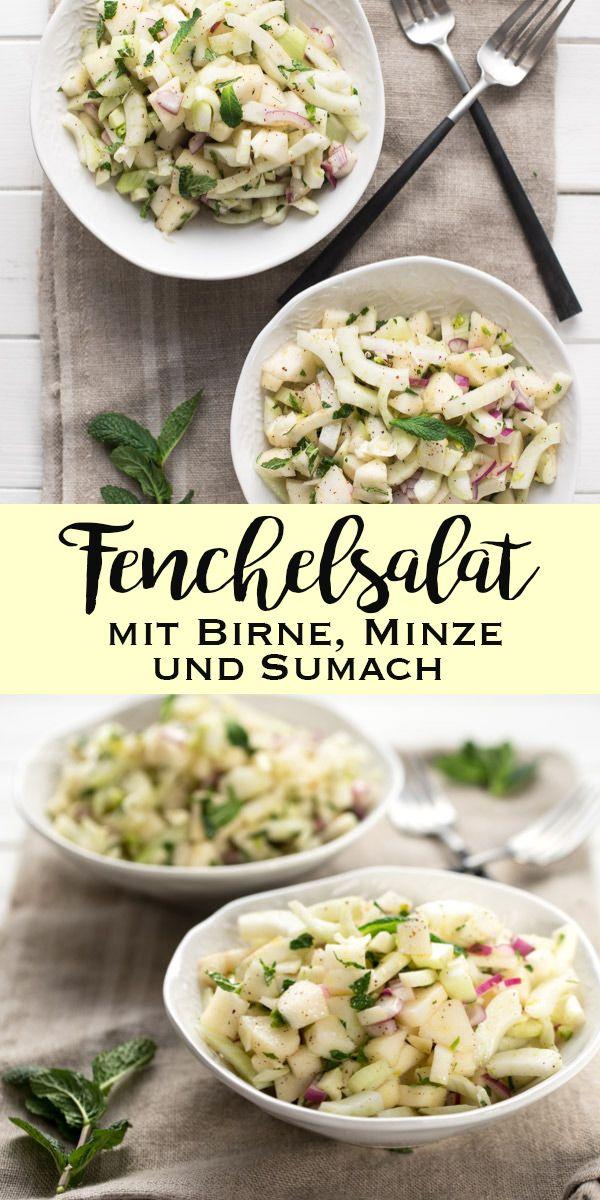 Fenchelsalat mit Birne, Minze und Sumach Rezept | Elle Republic