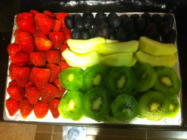A Healthy Fruit Platter Designed In The Form Of The Uae United Arab Emirates Flag I Currently Live In Abu Dhabi Te Fruit Platter Designs Food Healthy Fruits