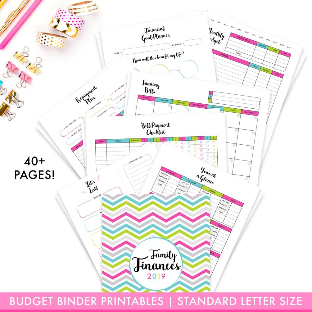 2020 Budget Binder Printables Pack