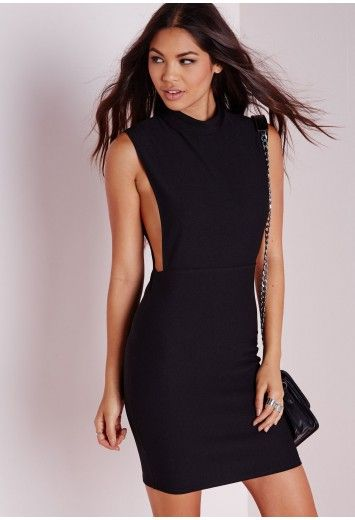 59d669b3 High Neck Cut Out Bodycon Dress Black - Dresses - Bodycon Dresses -  Missguided