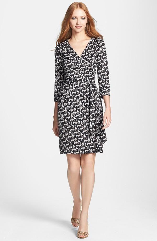 f0bee7925fab Diane von Furstenberg New Julian 2 Silk Wrap Dress