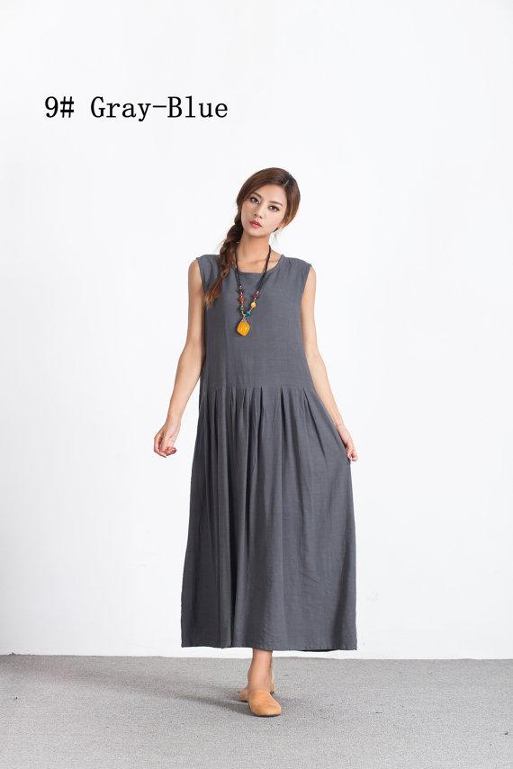 95dce91596e3b Women s Linen fitting maxi dress oversize long cotton caftan linen  Bridesmaid dress plus size clothi