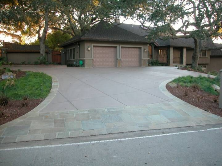 Pin by newlook international on residential decorative for Temperature to pour concrete driveway