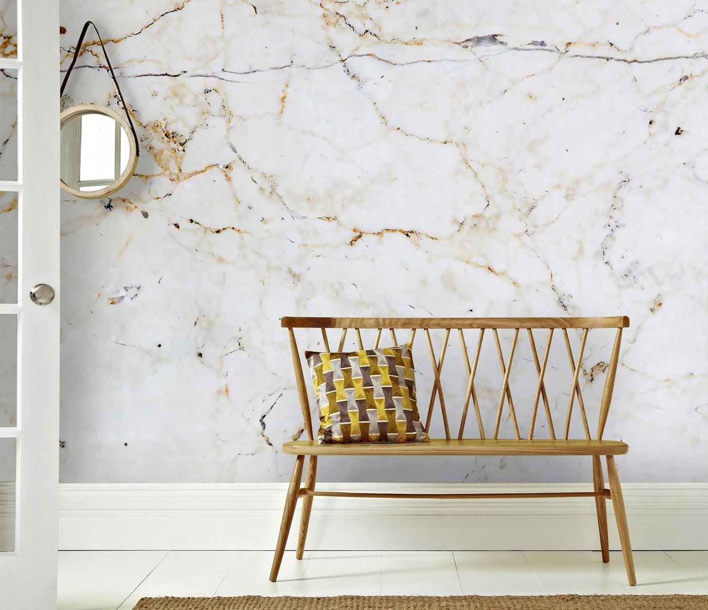 behang #muurdecoratie #woonkamer #slaapkamer #marmer #interieur ...