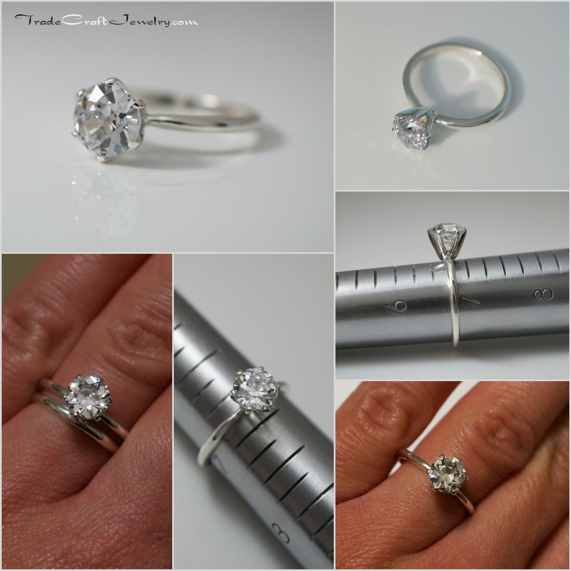 solitaire ring new envie york band prong engagement products setting rings