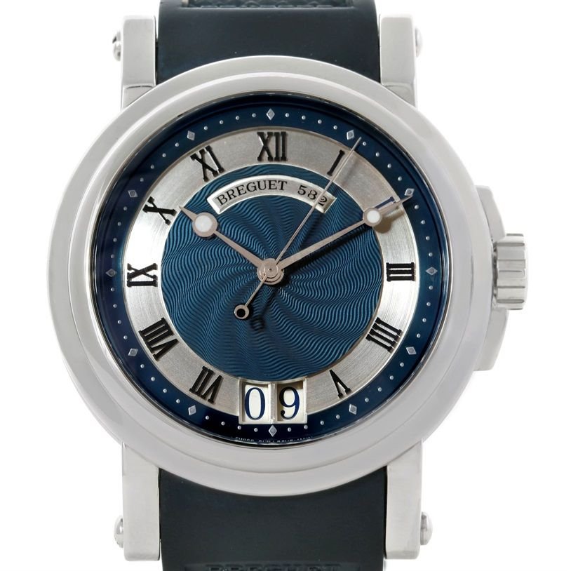 Breguet Marine Big Date Automatic Stainless Steel Mens Watch 3210