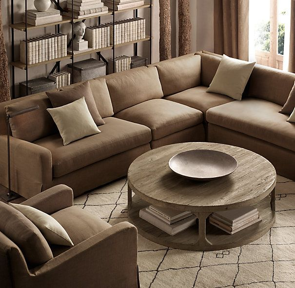 Martens Round Coffee Table Restoration Hardware 36 Inch: Fancy Restoration Hardware Sectional Restoration Hardware