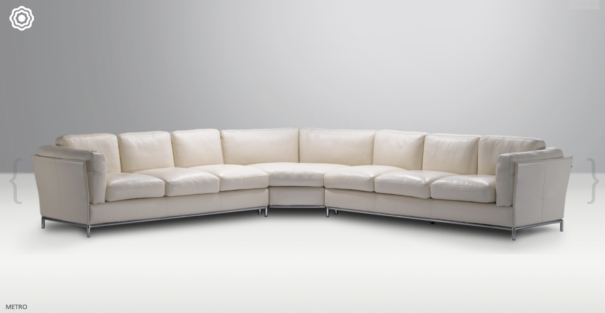 domicil arezzo sofa milo baughman