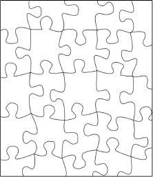 Blank Jigsaw Puzzle Template - I know a creative teacher could do ...