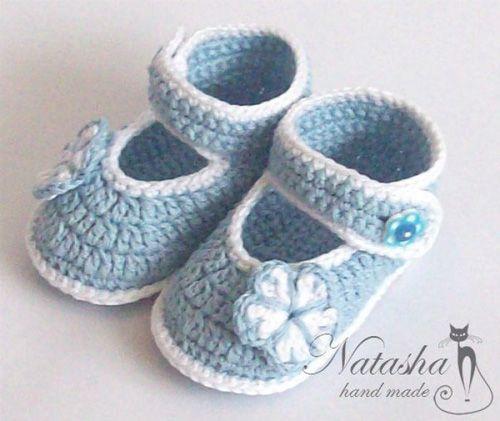 Patron para tejer zapatitos para bebes a crochet04 | zapatos ...